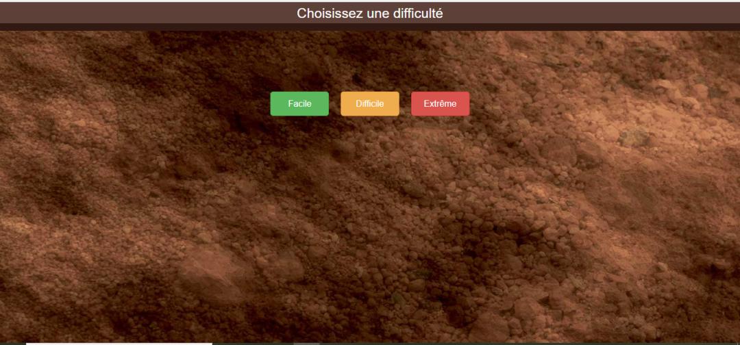 Appli Web - choix difficulté